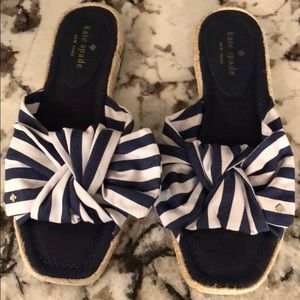 Kate spade bow striped sandals